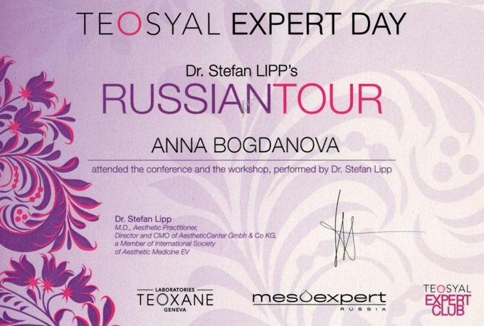 свидетельство на использование Teosyal Expert Day