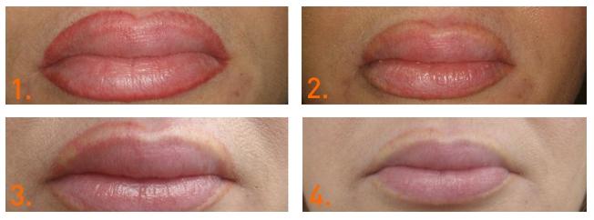 удаление макияжа губ