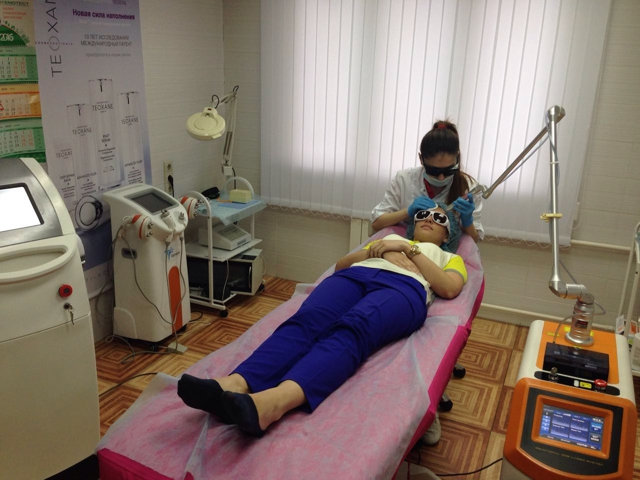 фото процедуры лазерного лифтинга